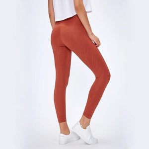 Load image into Gallery viewer, Fashion Forward 21 - Red Texture Seamless Leggings