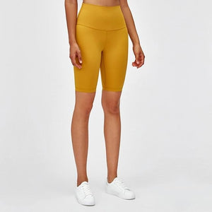 Fashion Forward 21 - PERFORM High Waist Cycling Shorts - Yellow