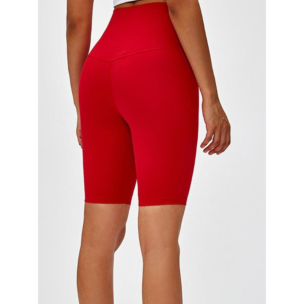 Fashion Forward 21 - PERFORM High Waist Cycling Shorts - Red