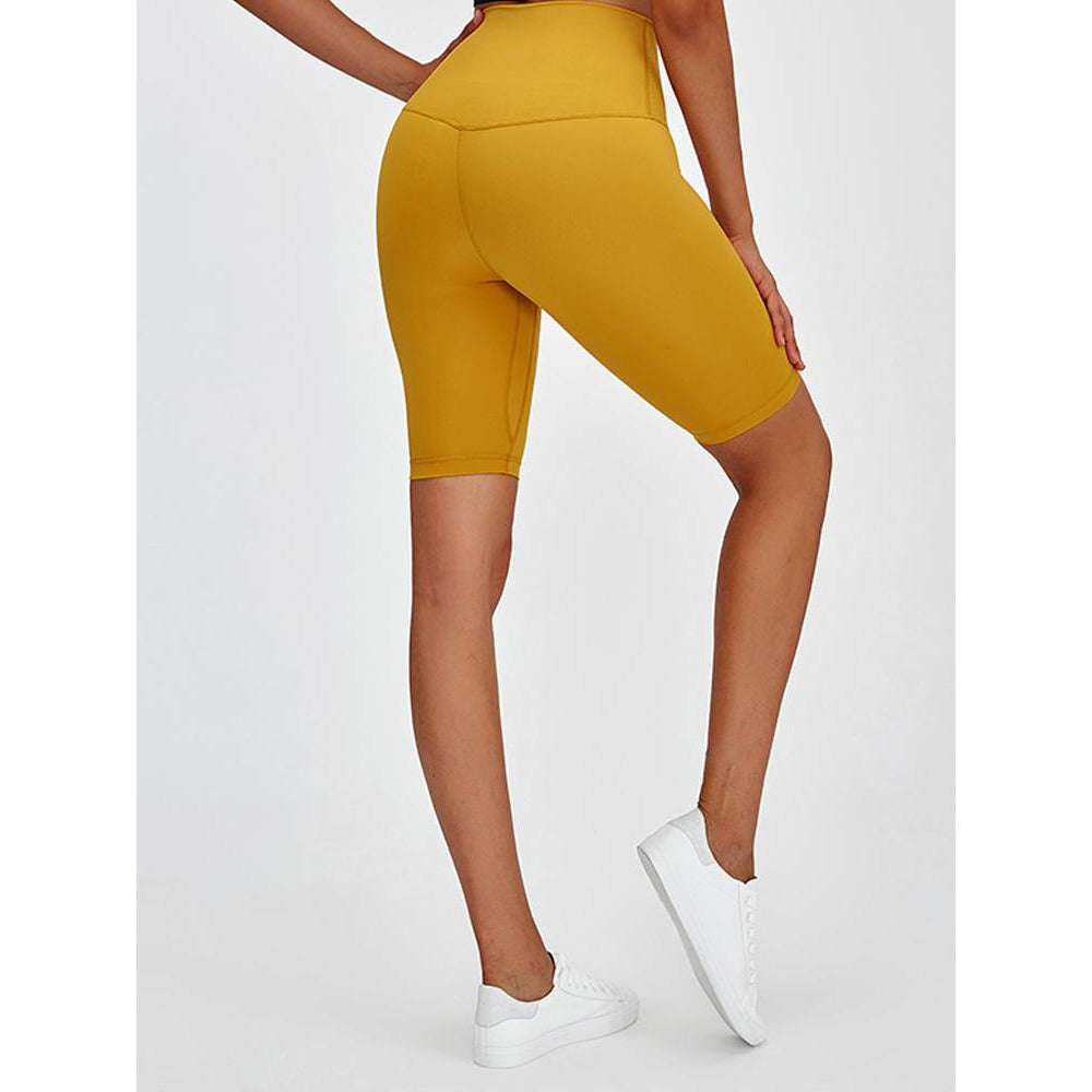 Load image into Gallery viewer, Fashion Forward 21 - PERFORM High Waist Cycling Shorts - Yellow