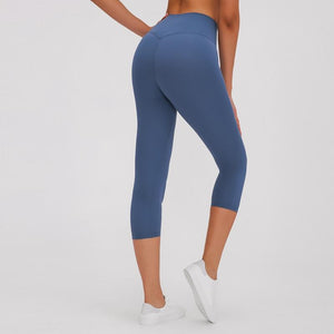 Fashion Forward 21 - Royal Blue Ankle Seamless Leggings