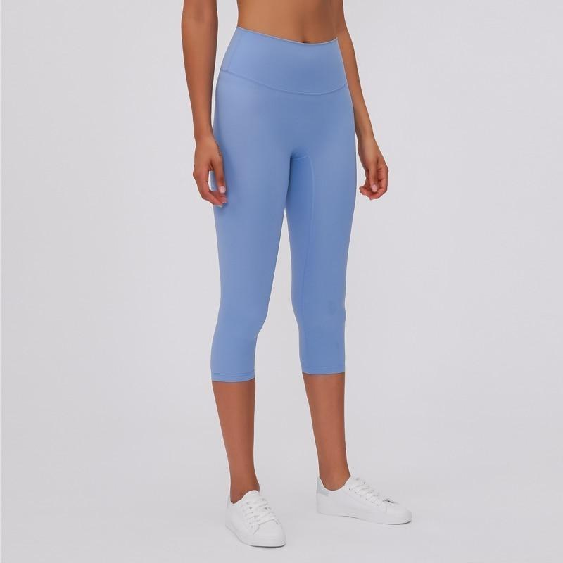 Fashion Forward 21 - Cornflower Blue Ankle Seamless Leggings