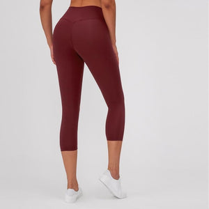 Load image into Gallery viewer, Maroon Ankle Naked-Feel Leggings