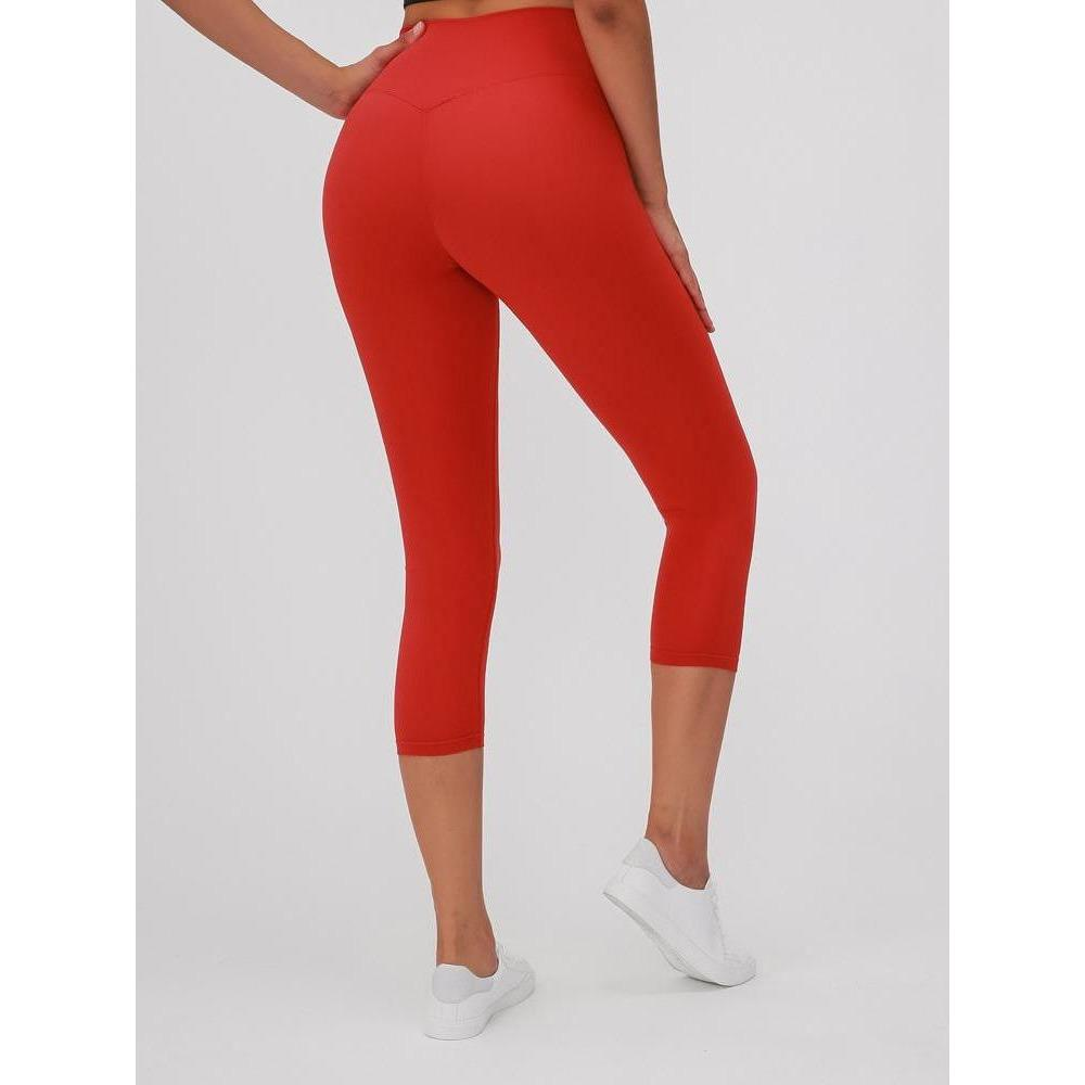 Ankle Seamless Leggings - Fire Red