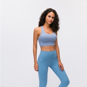 Load image into Gallery viewer, Fashion Forward 21 - Ice Blue Anti-sweat Crop Tops