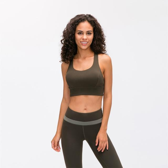 Load image into Gallery viewer, Fashion Forward 21 - Brown Green Anti-sweat Crop Tops