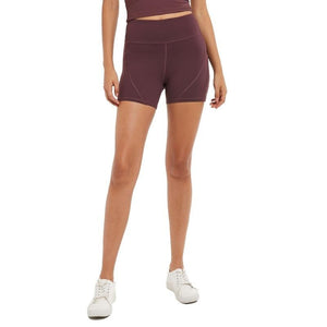 Fashion Forward 21 - Yoga Women's High Waist Pocket Shorts - Purple