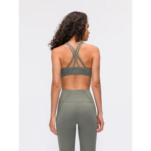 Fashion Forward 21 - Moss Green Cross back Support Crop Tops