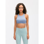 Fashion Forward 21 - Ice Blue Cross back Support Crop Tops