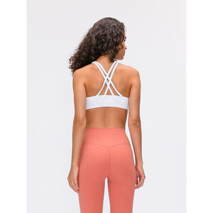 Fashion Forward 21 - White Cross back Support Crop Tops