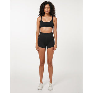 Load image into Gallery viewer, Fashion Forward 21 - Yoga Women's High Waist Pocket Shorts - Black