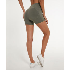Fashion Forward 21 - Yoga Women's High Waist Pocket Shorts - Green
