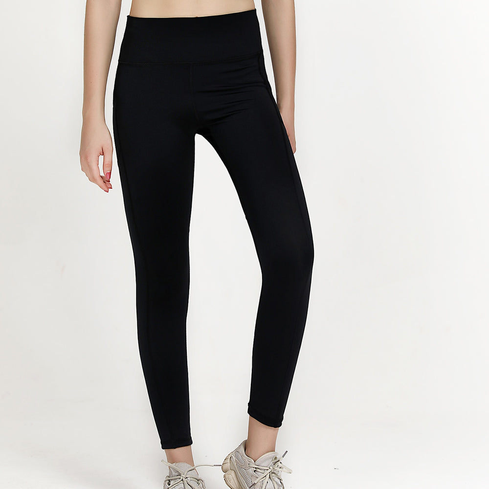 High Waist 7/8 Ankle Legging with Side Pockets - Black