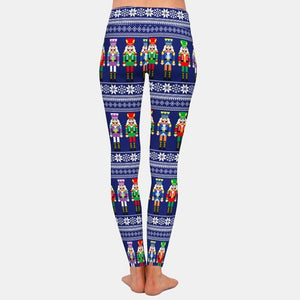 Load image into Gallery viewer, Christmas Nutcrackers Leggings - Black