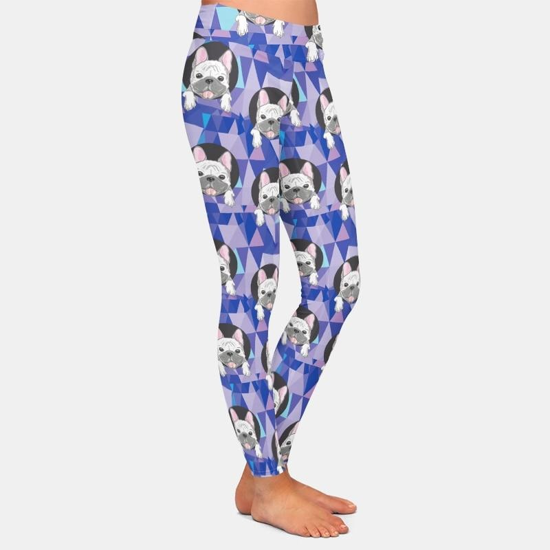 Cartoon Bulldogs Leggings - Purple