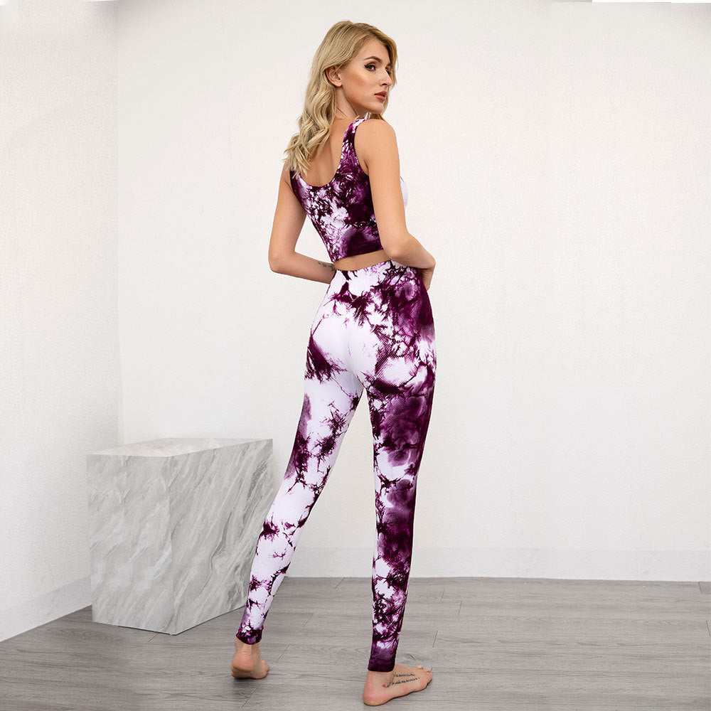 Marble texture high waist  - Purple