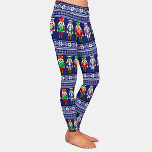 Christmas Nutcrackers Leggings - Black