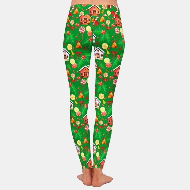 Christmas Gingerbread House Leggings - Green