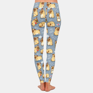 Load image into Gallery viewer, Pug lovers Leggings - Blue