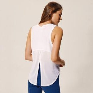 Load image into Gallery viewer, Fashion Forward 21 - Mesh Patchwork Tank Tops - White