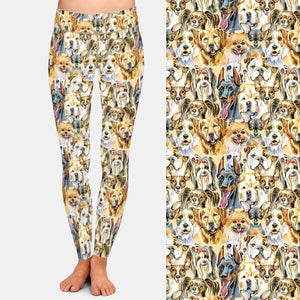 Load image into Gallery viewer, Oil Dog Painting Leggings