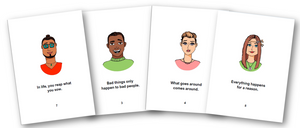Just World Belief Flashcards and Resource