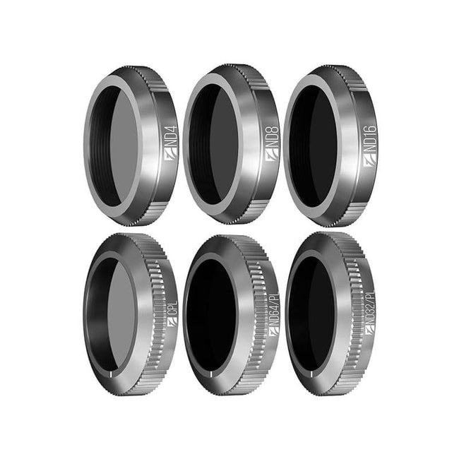 New: Freewell Kit - 6Pack ND4 ND8 ND16 CPL ND32/PL ND64/PL Camera Lens Made For DJI Mavic 2 Zoom - Default
