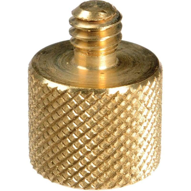 3/8 Inch Female to 1/4 Inch Male Tripod Thread Adapter Brass Copper - Default - Default