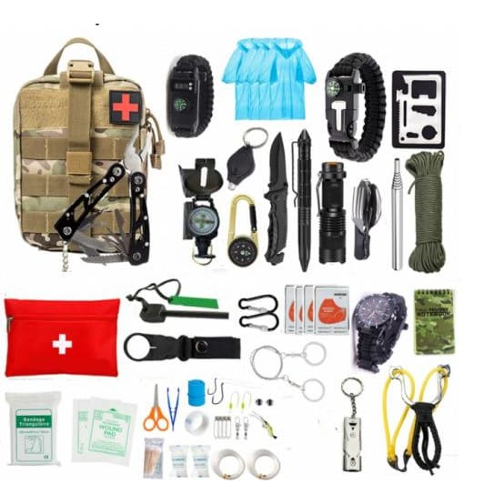 Xtreme 54 Piece Camouflage Survival/Camping Kit - Survival & Camping Kits