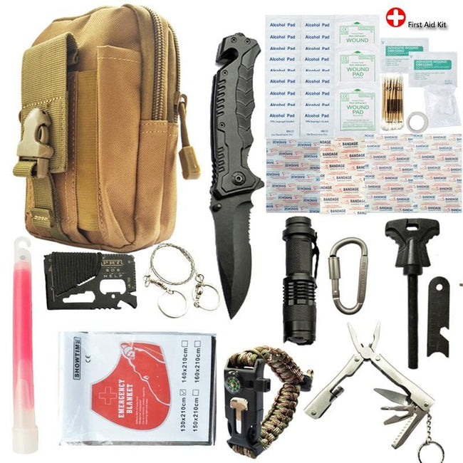 Xtreme 50 Piece Camouflage Survival Kit - Survival & Camping Kits