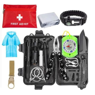 Xtreme 20 Piece Survival Kit (Black) - Survival & Camping Kits
