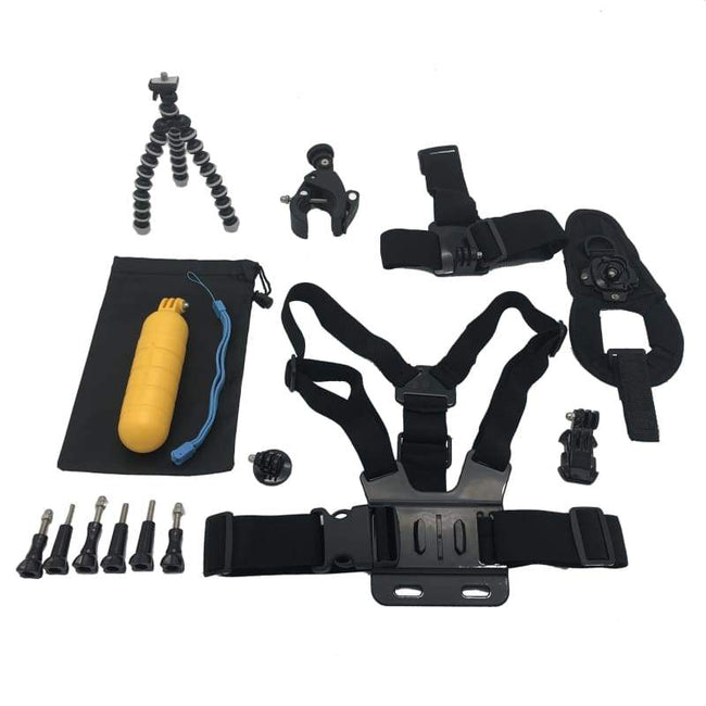 New: Xtreme 16 in 1 Piece Gorilla Accessory Bundle Kit For GoPro & Other Action Cameras - Default