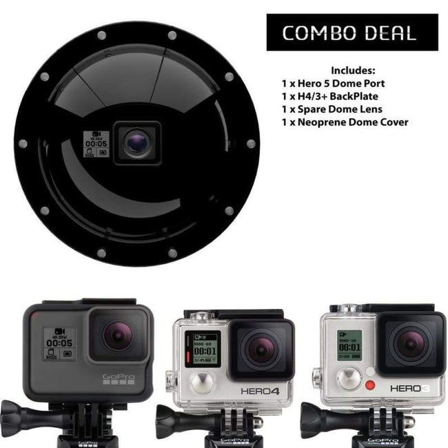 Complete PDS GDome Kit H7/6/5 Black & Hero 4/3+/3 - Default