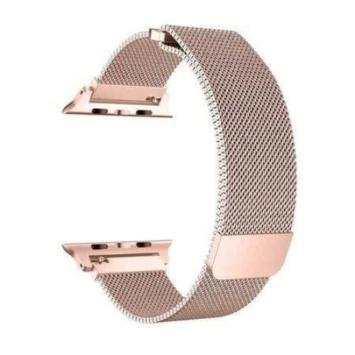 38 mm Apple Watch Strap- Milanese Loop - Pink Rose Gold - Default
