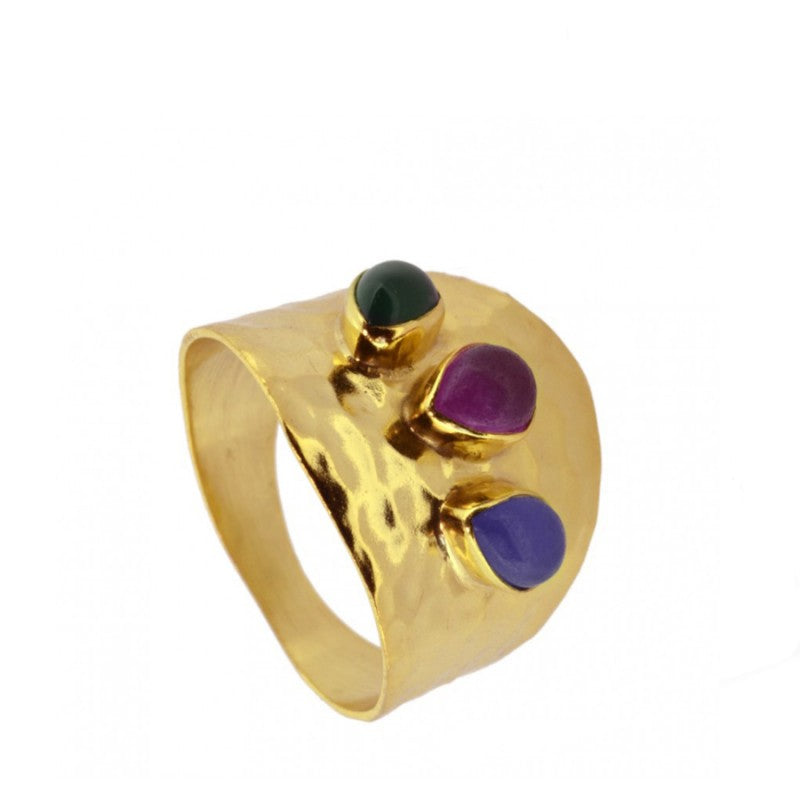 ANILLO PSALA TRIANDJADE GOLD