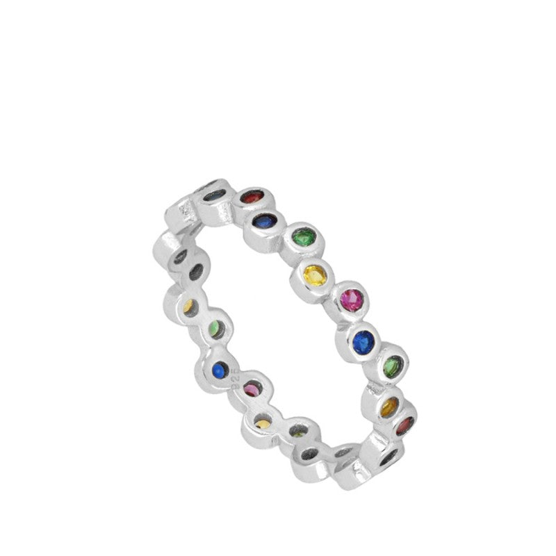 ANILLO ALLIA COLORS SILVER