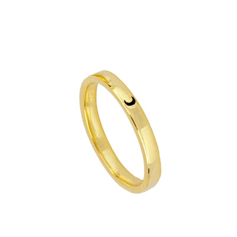 ANILLO BLACK MOON GOLD