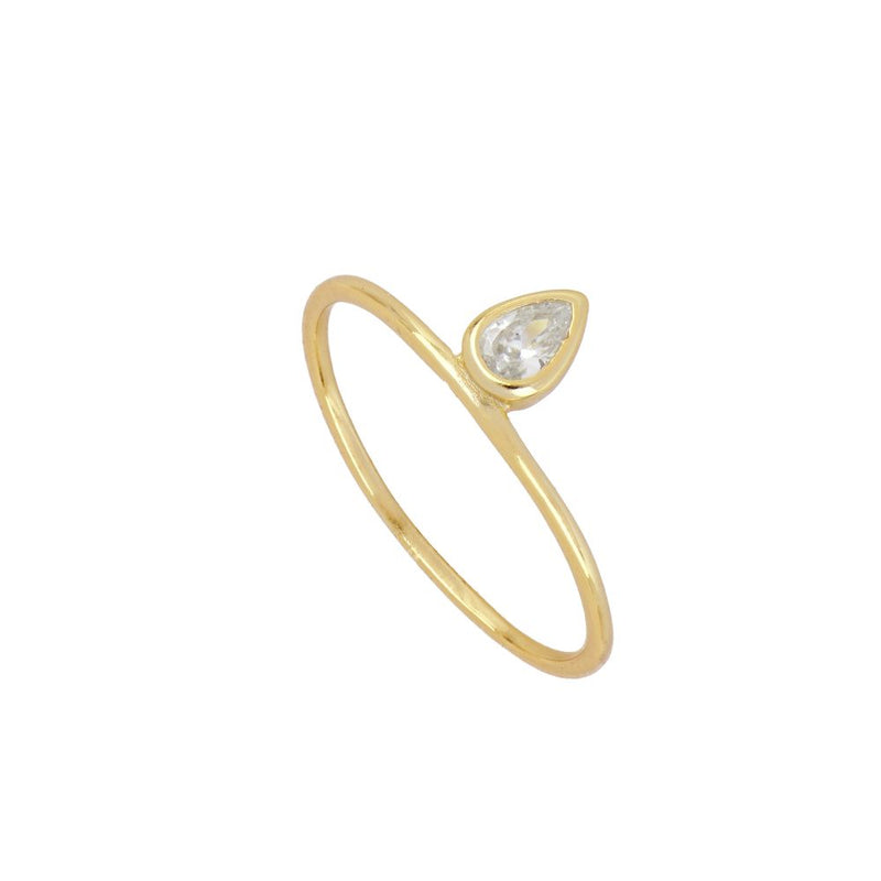 ANILLO WHITE TEAR GOLD