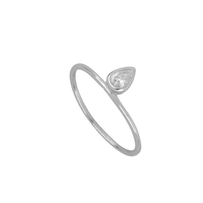 ANILLO WHITE TEAR SILVER