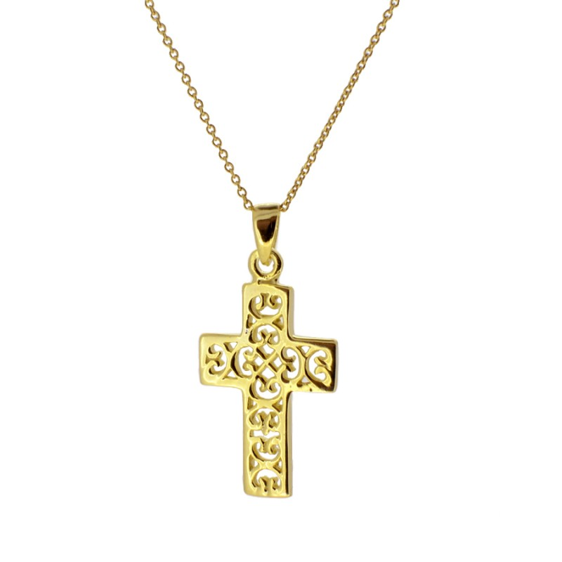 COLLAR CROSS GOLD