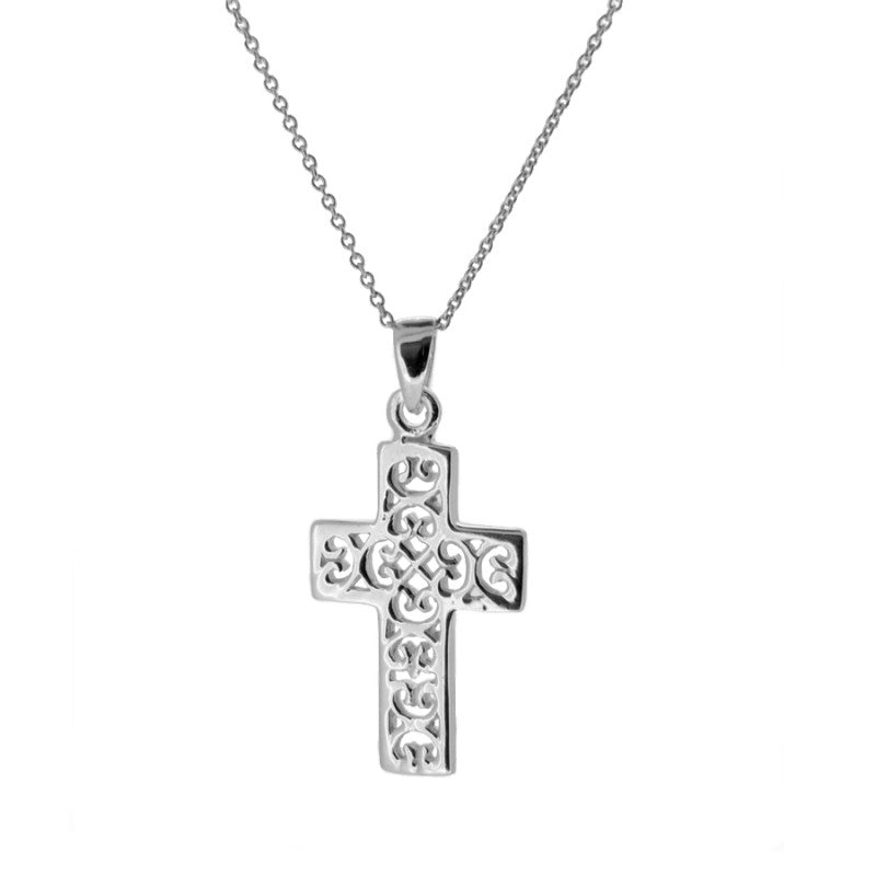 COLLAR CROSS SILVER