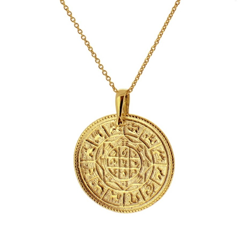 COLLAR ZODIAC MEDIUM GOLD
