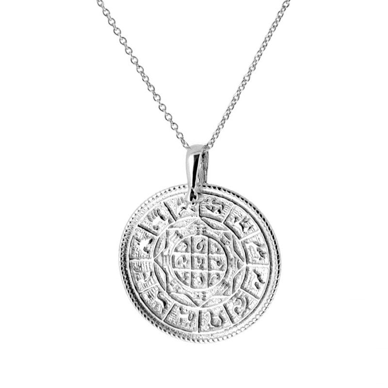 COLLAR ZODIAC MEDIUM SILVER