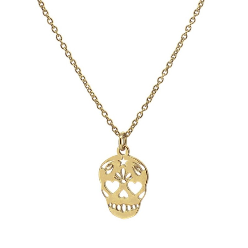 COLLAR SKULL MEDIUM GOLD