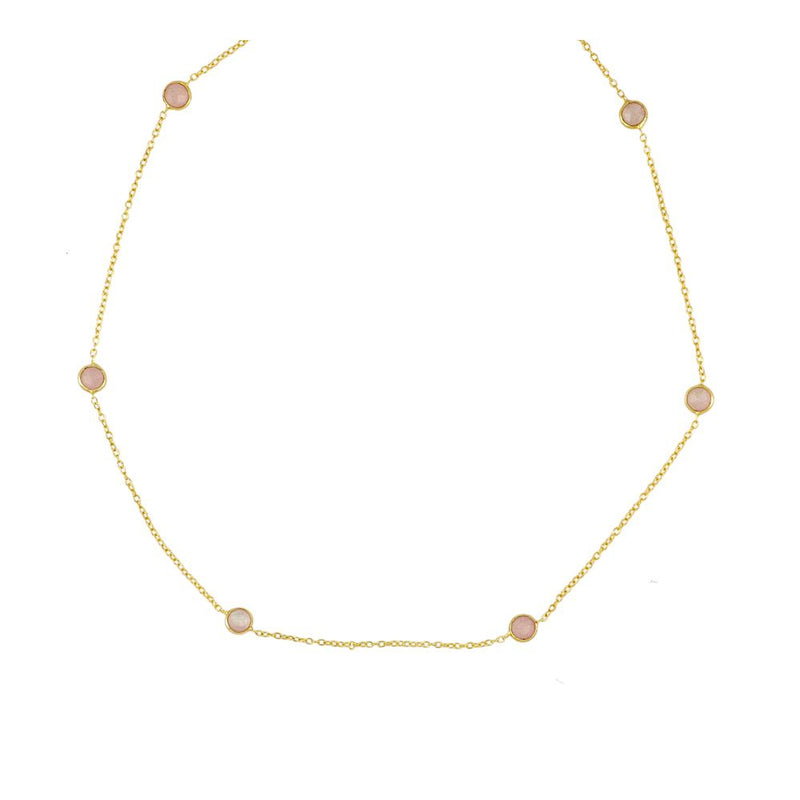 COLLAR VENECIA CALCEDONIA ROSA GOLD
