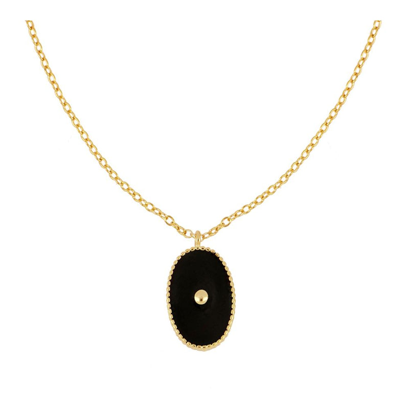 COLLAR ENAMEL NEGRO GOLD