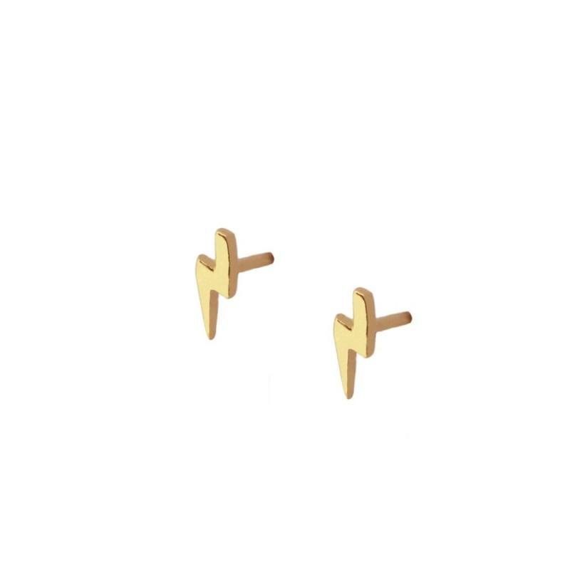PENDIENTES THUNDERBOLT MINI GOLD