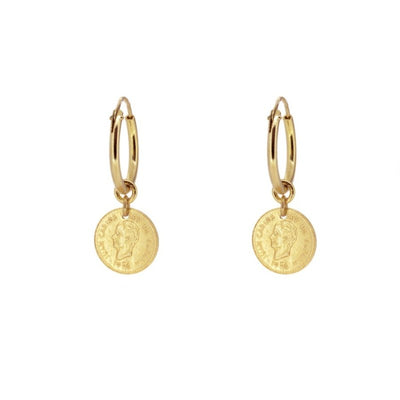 PENDIENTES MONEY GOLD