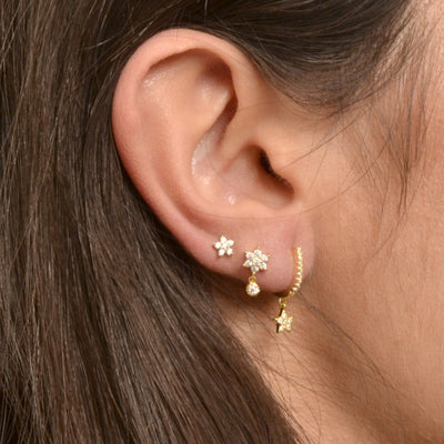 PENDIENTES STAR SHINE MINI SILVER