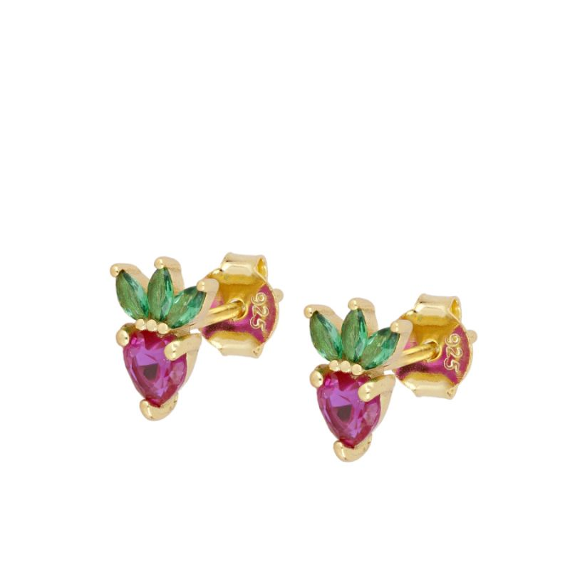 PENDIENTES STRAWBERRY GOLD